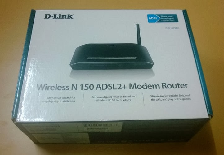 D-Link DSL-2730U Wireless Router packaging