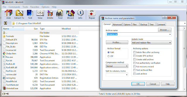 winRAR-archive-settings