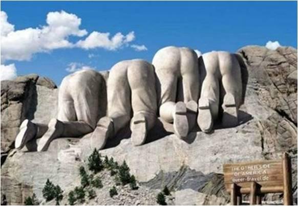 Esculturas de los presidentes talladas en granito en EEUU
