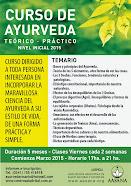 Curso de Formación en Ayurveda 2015 de 1º nivel