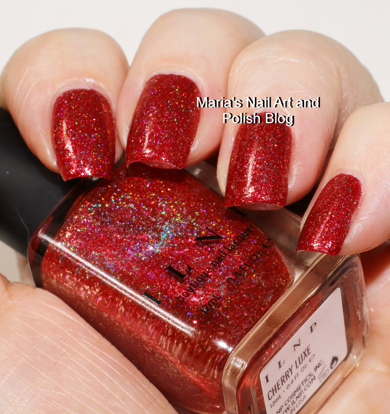 Marias Nail Art and Polish Blog: ILNP Cherry Luxe and XO swaches