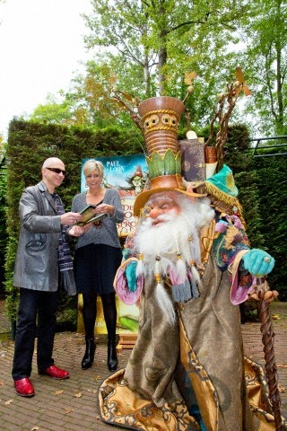 Princess Laurentien and author Paul van Loon visit theme Park De Efteling after the presentation of their new fairy tail book De Sprookjessprokkelaar in Kaatsheuvel, The Netherlands, 05.10.2014.