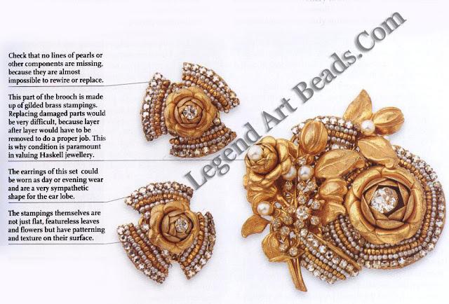 - Haskell Floral Brooch & Earrings