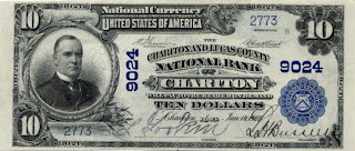 $10 note from Chariton