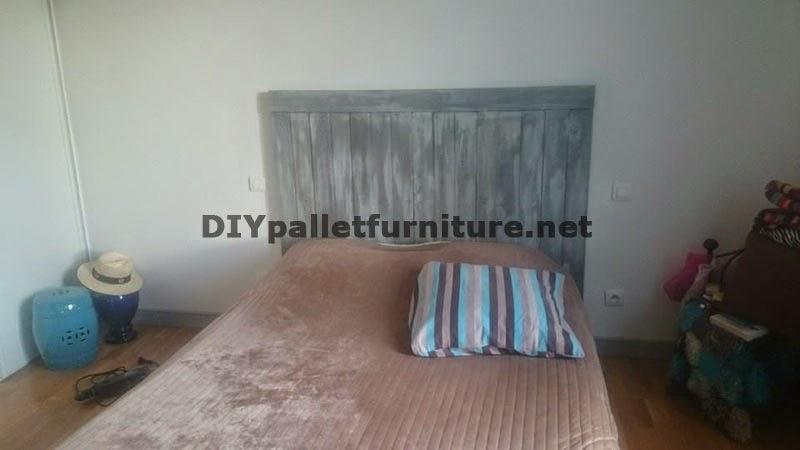 Cabecero de cama realizado con tablas - Cabeceros hechos con palets ...