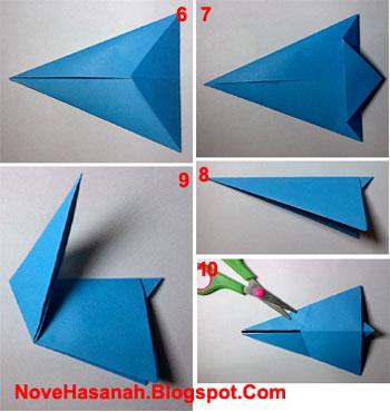 cara membuat origami kelinci yang lucu dan mudah untuk anak-anak