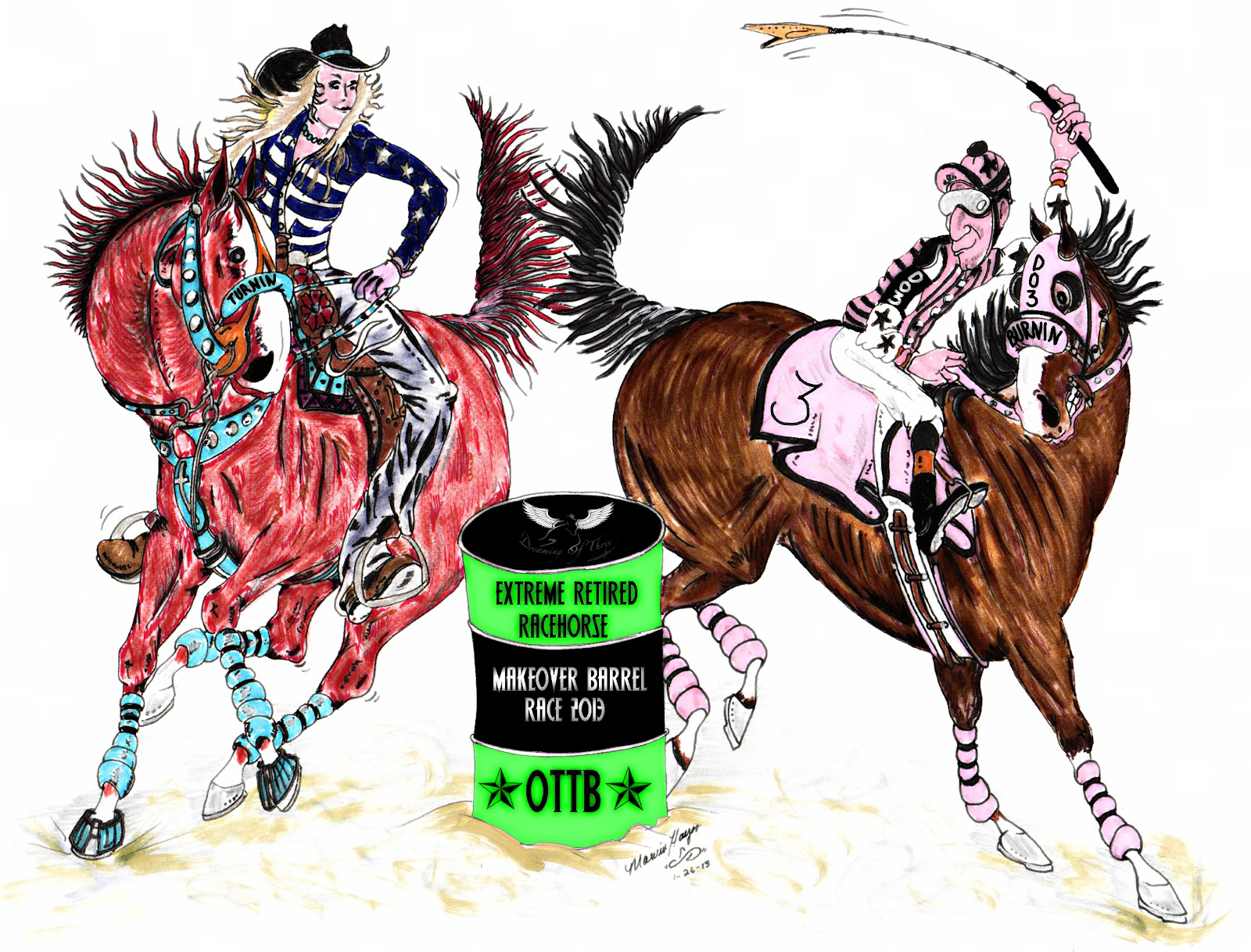 Extreme Retired Racehorse Makeover Barrel Race