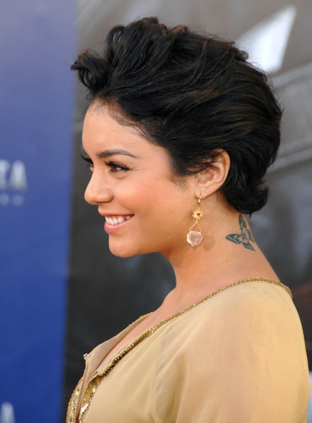 Vanessa Hudgens Shows Off Neck Tattoo