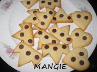 Galletas mantequilla con pepitas chocolate