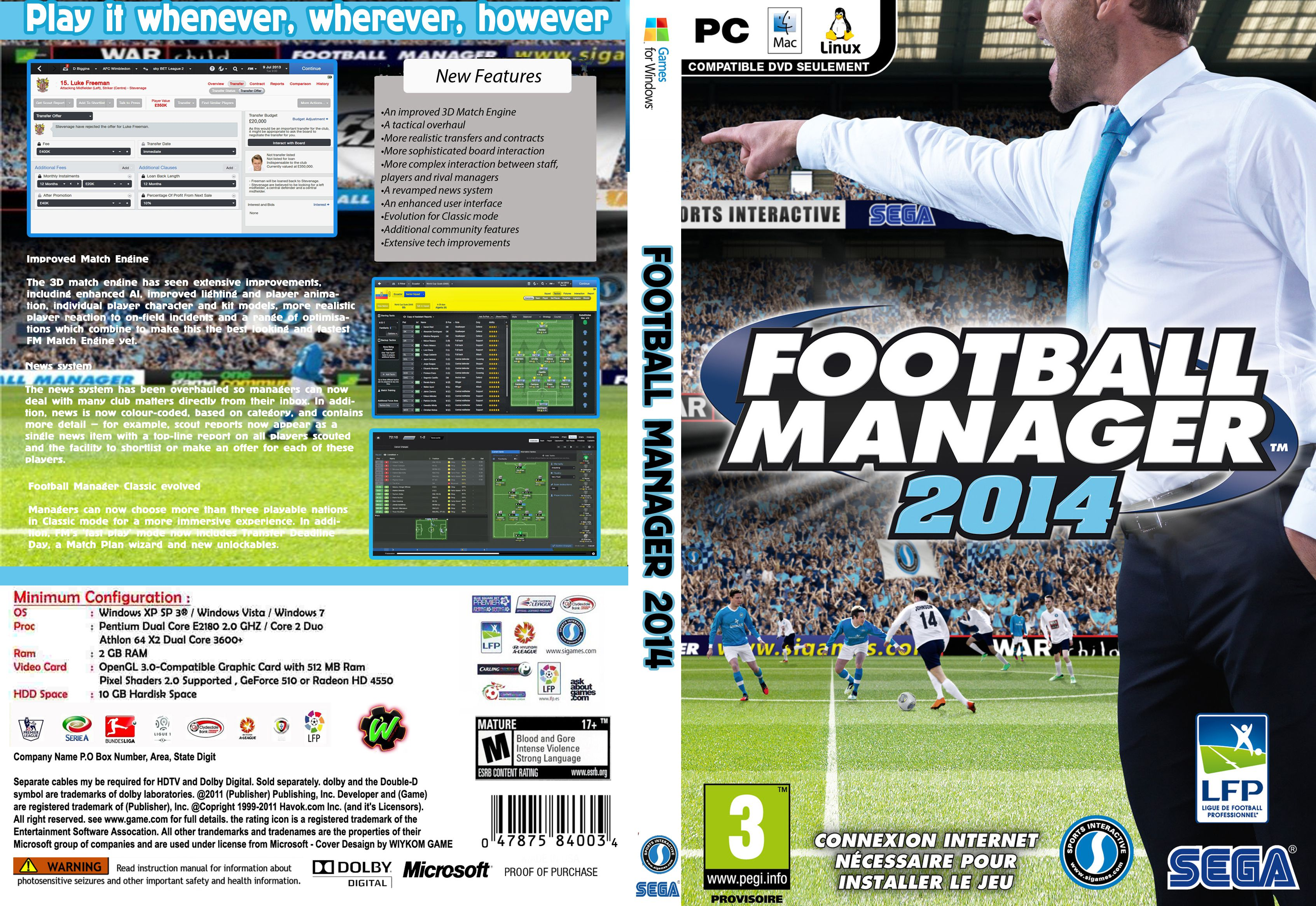 Capa Football Manager 2014 PC