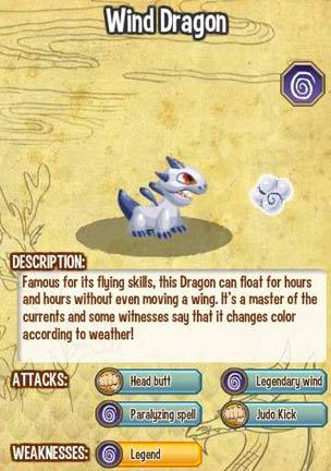 Giới thiệu về Wind Dragon trong game Dragon City, cach tao wind dragon, wind dragon, cac loai rong dragon city