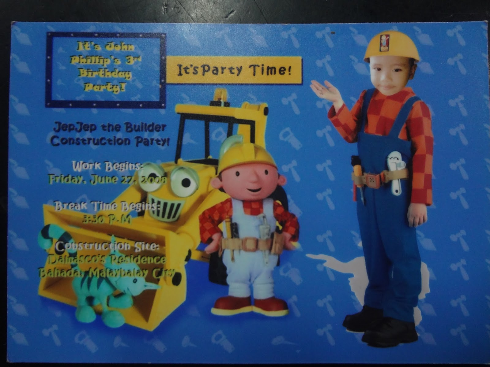 The How To Blog Bob the Builder Party – Bob the Builder Party Invitations