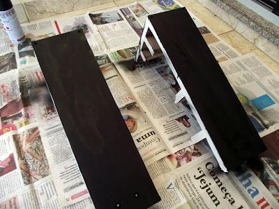 Pintando as caixas de som