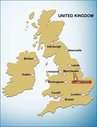 Uk Maps Of Nottingham