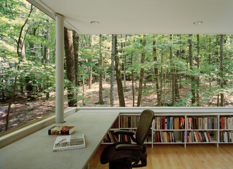 Private Study Library In The Woods Most Beautiful Houses