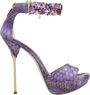 purple stilettos, spike heels, luxury shoes