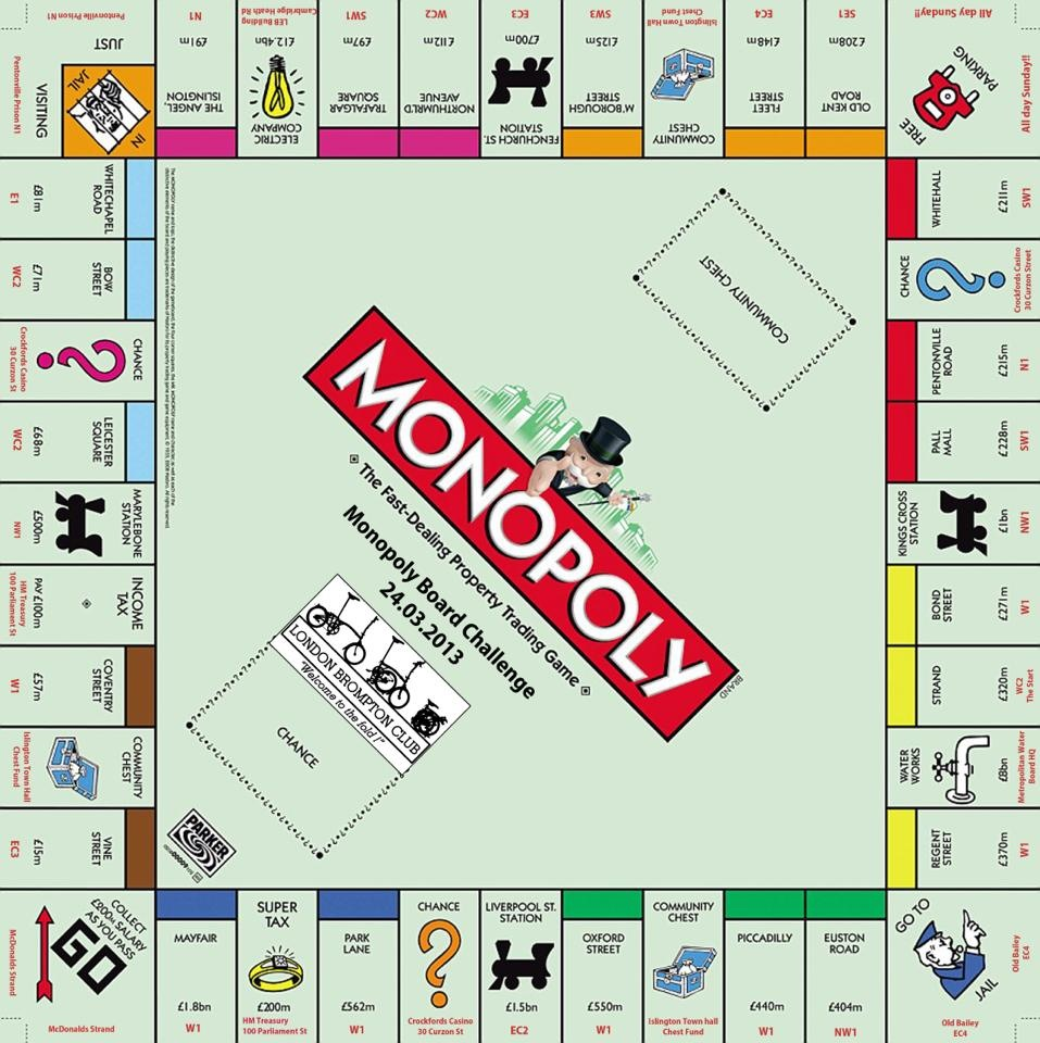 Mcdonalds Monopoly Game Board 2014 Mcdonalds Monopoly Board 2012