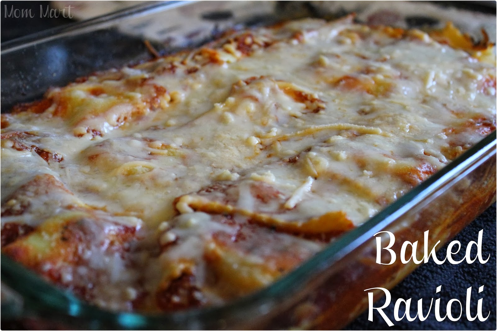 Easy Baked Ravioli Recipe and picture tutorial #Recipe #EasyDinnerDish ...