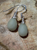Amazonite and silver wire