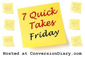 7 Quick Takes Friday: Gay Muppets, Blog Questions, and Love Bombs | Faith Permeating Life