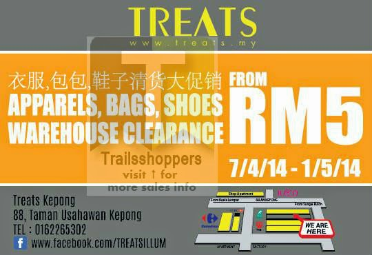 TREATS Apparels Bags Shoes Warehouse Clearance KL Malaysia