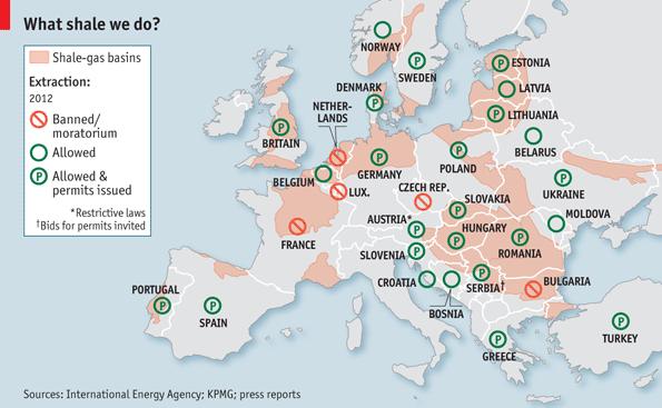 Skalūnų dujų žemėlapis
