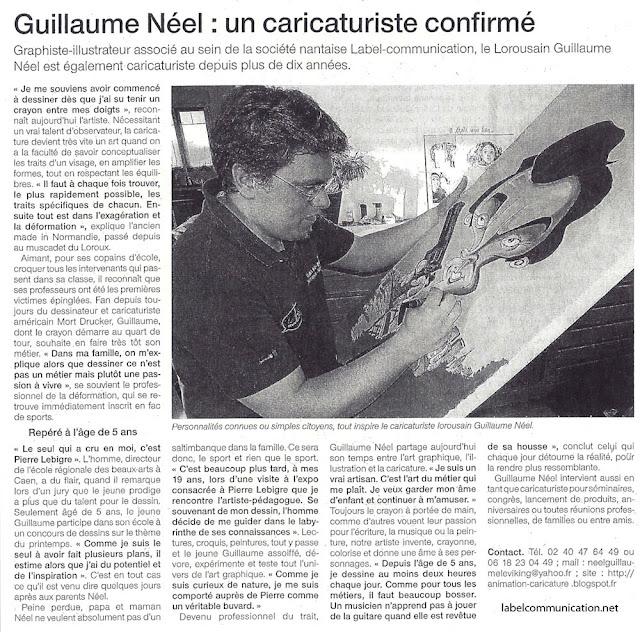 Guillaume Néel Caricaturiste confirmé (fondateur-associé de Label communication)