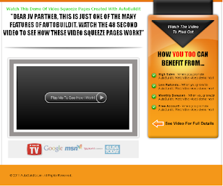 Autobuildit Video Squeeze Page