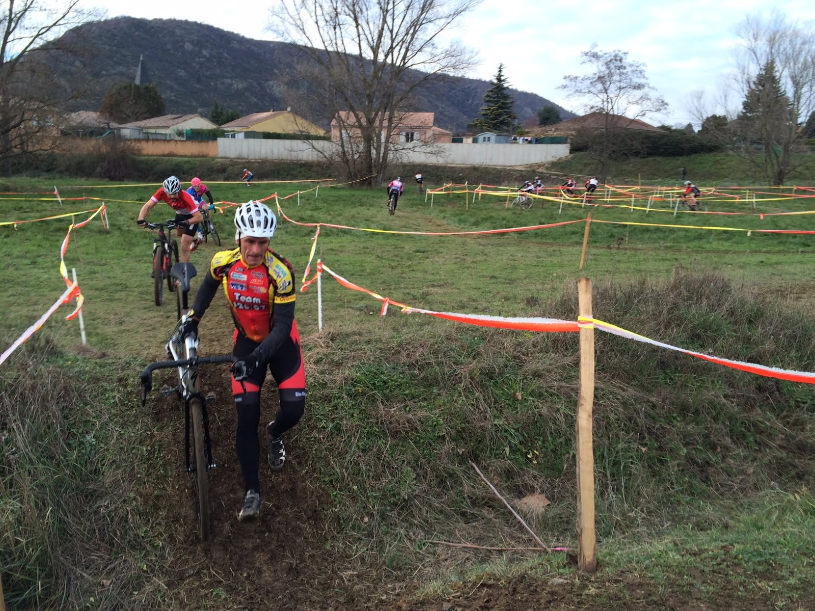 Samedi 16, Marc au Cyclo cross d'Andancette