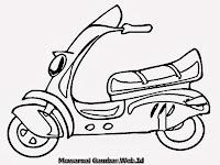 Mewarnai Gambar Motor Skuter Matic