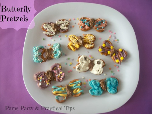 Pams Party Amp Practical Tips Butterfly Pretzels
