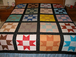 Ohio Star, first quilt