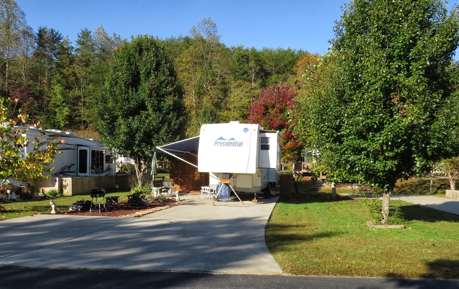 Our RV Lot for Rent - in Blairsville, Georgia mountains