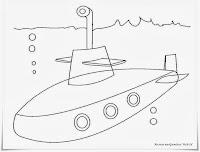 Gambar Kapal Selam Untuk Diwarnai