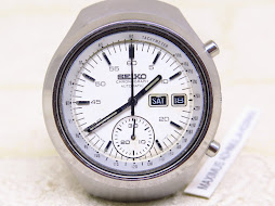 SEIKO CHRONOGRAPH WHITE HELMET - AUTOMATIC 6139