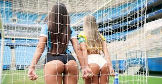 Belas da torcida  Charlene do Grêmio x Aline do Palmeiras finalistas