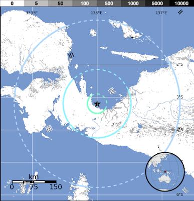 Epicentro sismo 6,0 grados en Indonesia, el 08 de Septiembre 2012