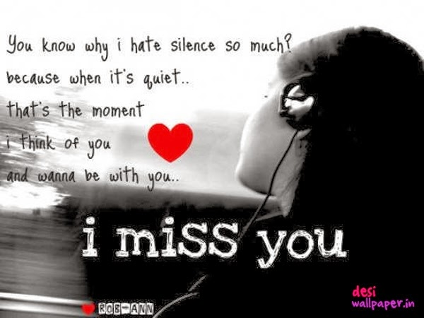 I Hate Missing You Love Letters