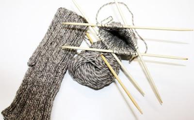 mitones tricot cinco agujas