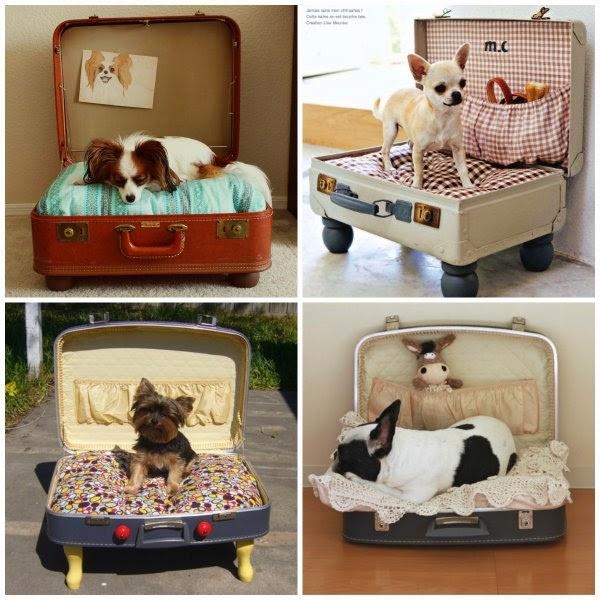 Decoración vintage con maletas