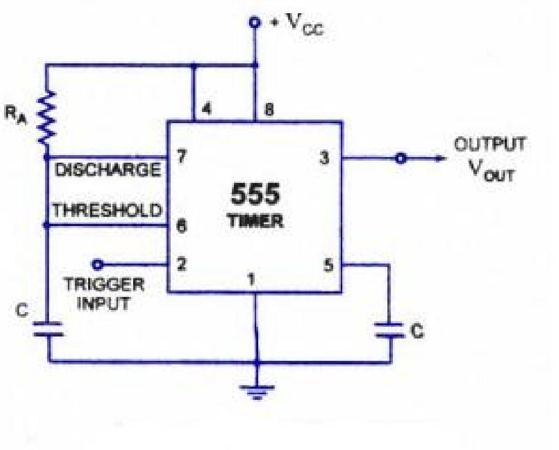 Nagariya Project On Highway Alert Signal Lamp 555timer Alternating Blinking Led Circuit Issue Fig5 Diagram Of 555 Timer In Astable Mode