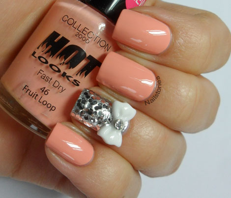 Nail stories peach bows sunday 10 march 2013 prinsesfo Choice Image