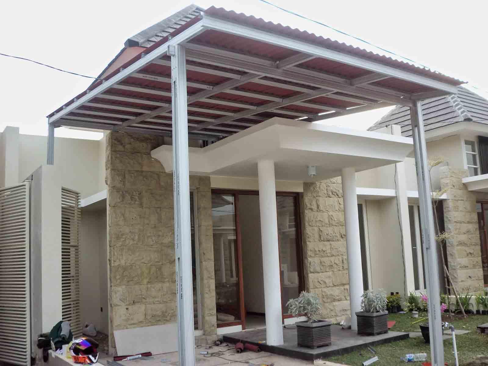 40 Gambar Model Kanopi Rumah Minimalis  Desainrumahnya.com