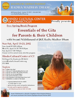 Disciple of Jagadguru Kripaluji Maharaj presents Bhagavad Gita in Connecticut