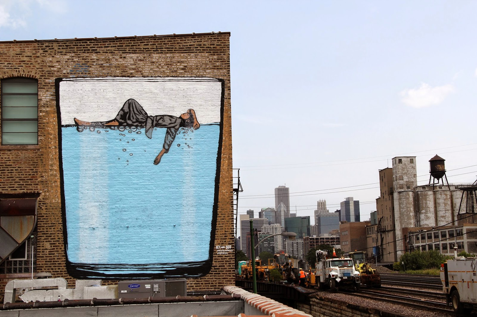 Icy sot new mural chicago usa streetartnews for Mural in chicago illinois