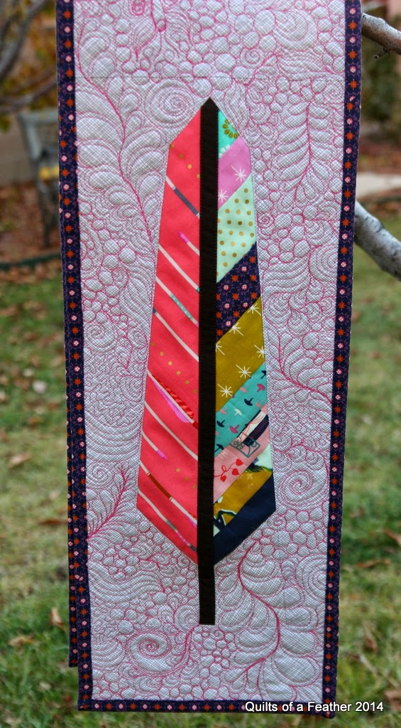 pink feather quilt wall - photo #10
