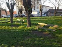Amag Ambiente pulisce i giardini della Stazione di Spinetta Marengo