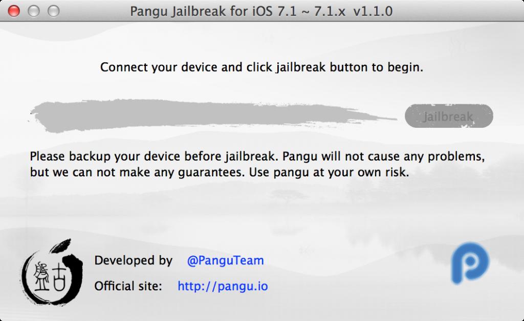 Pangu iOS 7.1.x Jailbreak Tool