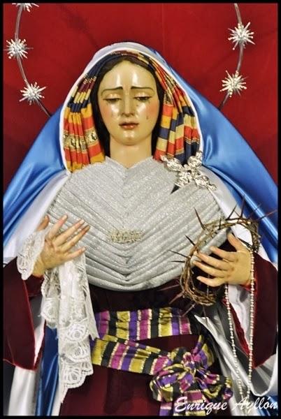 Virgen de Gracia y Amparo vestida de hebrea Los Javieres 2014