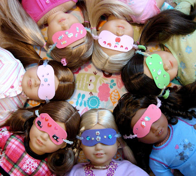 Make Sleep Masks for Your Dolls